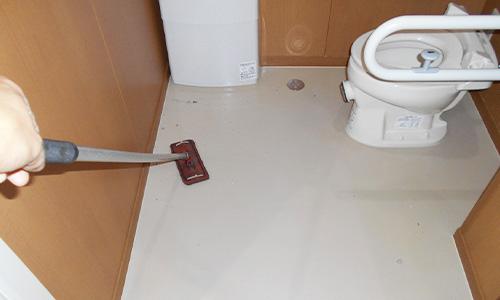 藤枝市 老人介護施設トイレ清掃 床