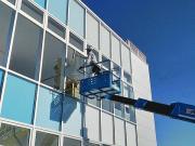 高所ガラス清掃作業