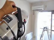 浜松市内 アパート室内の除菌消臭剤噴霧作業