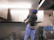 浜松市内 学校内厨房のフード・グリスフィルター清掃